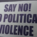 say no to political violence