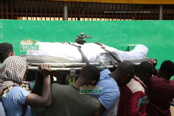 Ahmed Hussein-Suale being sent for burial