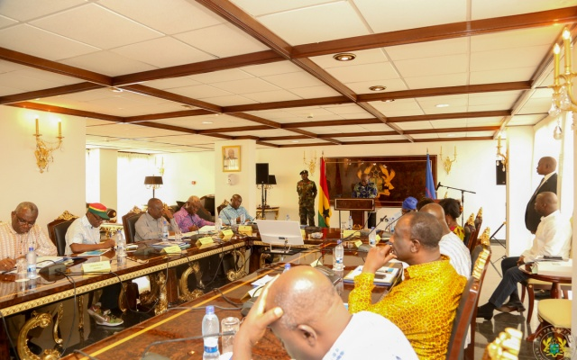 Image result for cabinet meeting akufo-addo