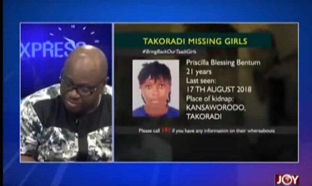 hustine bayor criticiize police on missing taadi girls