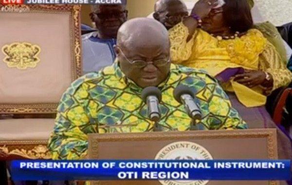 Nana Addo anounces Dambai as capitall for Oti Region