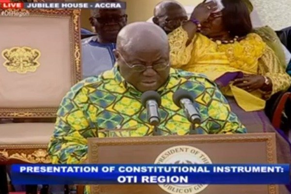 Nana Addo anounces Dambai as capitall for Oti Region