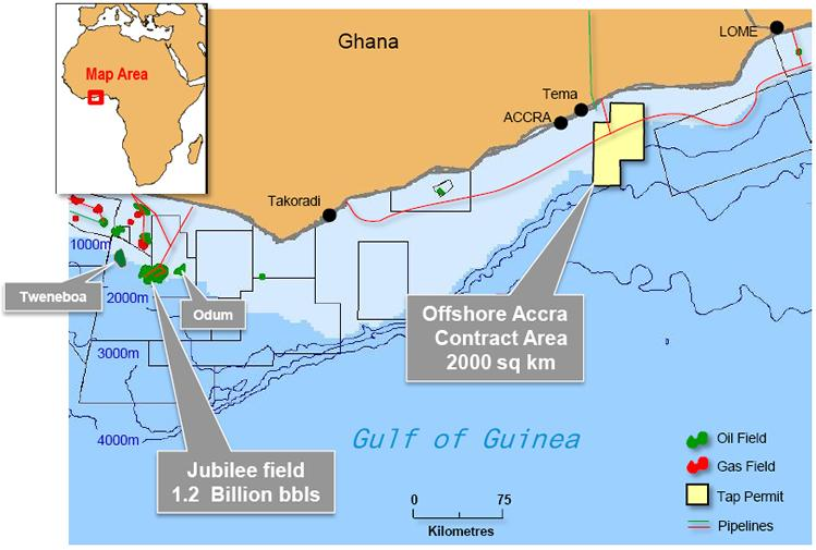 Map Ghana's Oil Fields