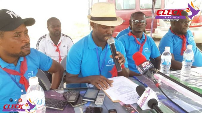 Secretary to the Concerned Citizens of Tarkwa-Nsuaem, Samuel Kwasi Asare,addressing the media