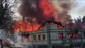 Stool Lands sekondi on fire