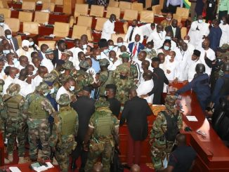Army storms parliament